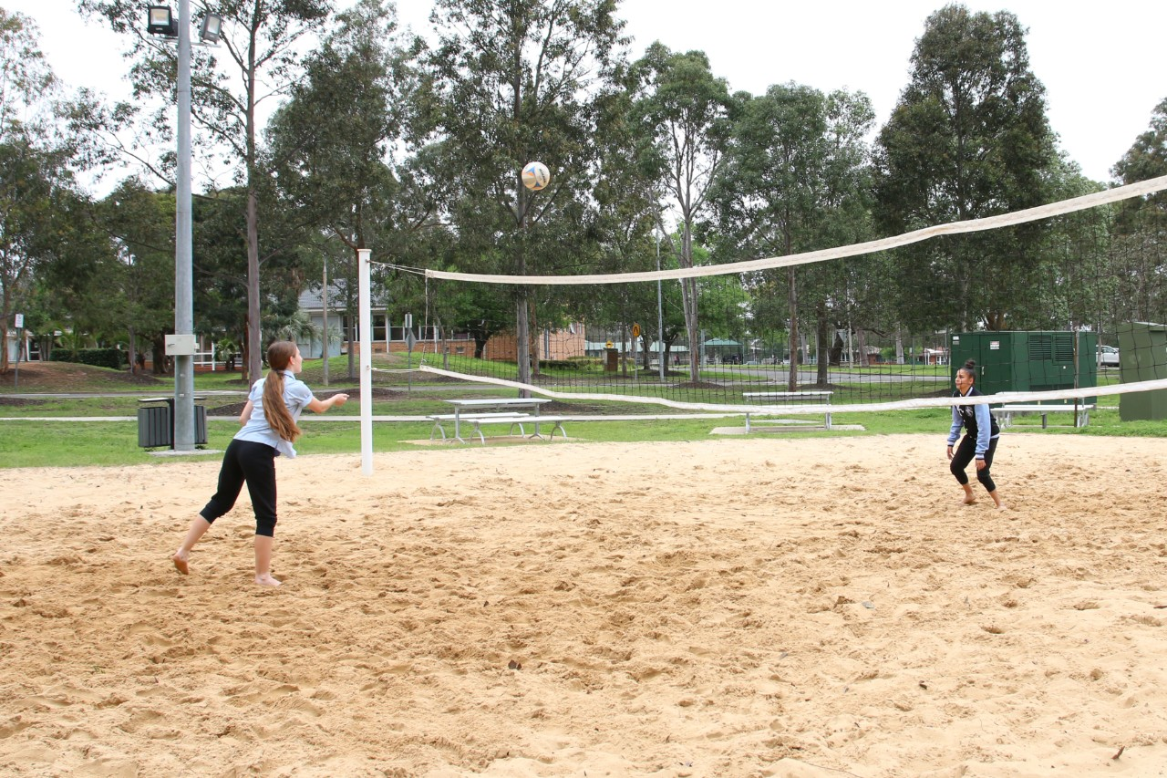 we have beach volleyball as well.