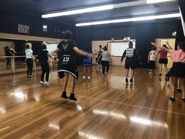 dance rehearsal going on