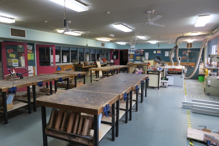inside our metal and timber workshop
