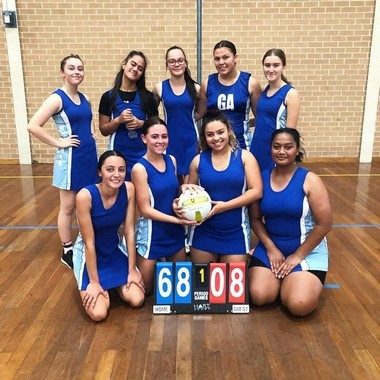 Girls' netball team