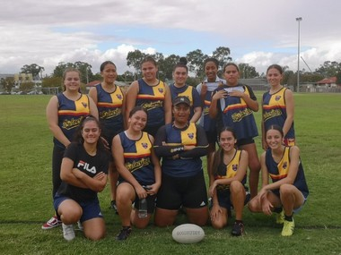 Girls' touch football team