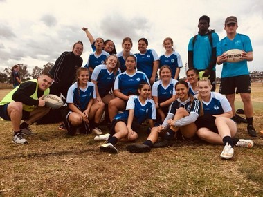 girls' rugby league team