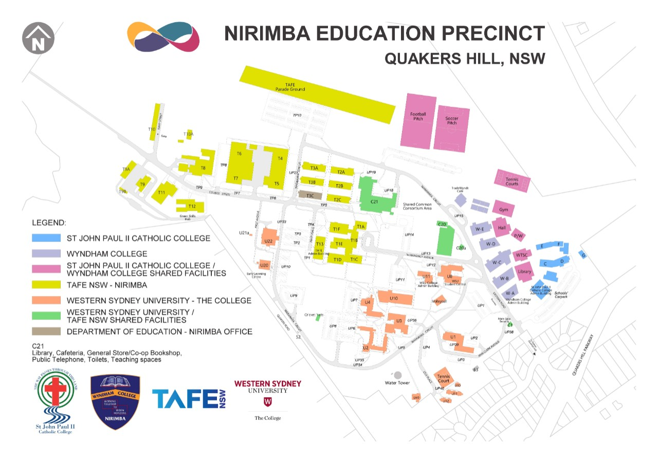 Nirimba Education Precinct map