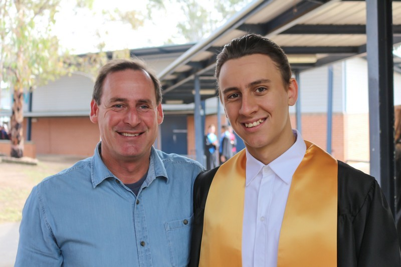 Parent with student at Graduation