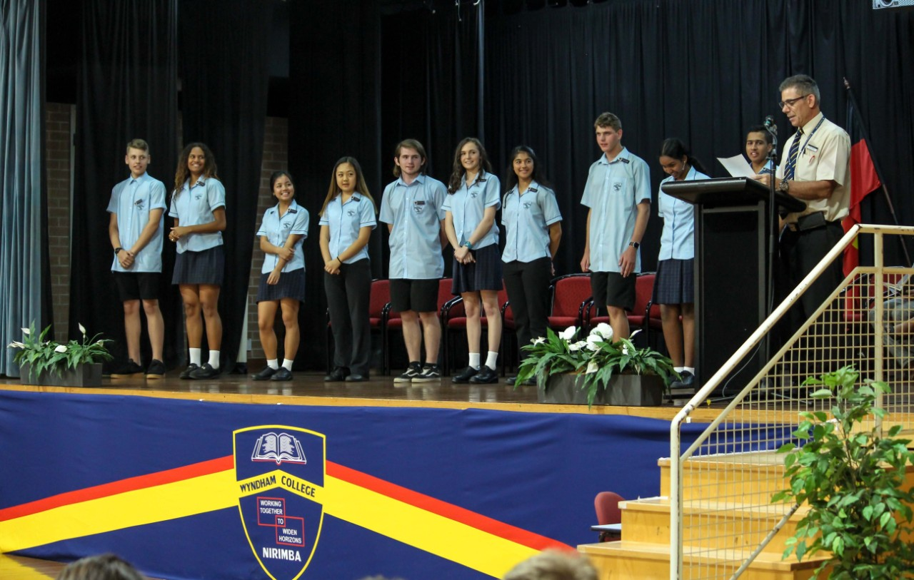 students participating in the SRC induction
